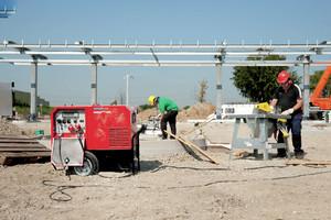 Stromerzeuger Baustellenversorgung