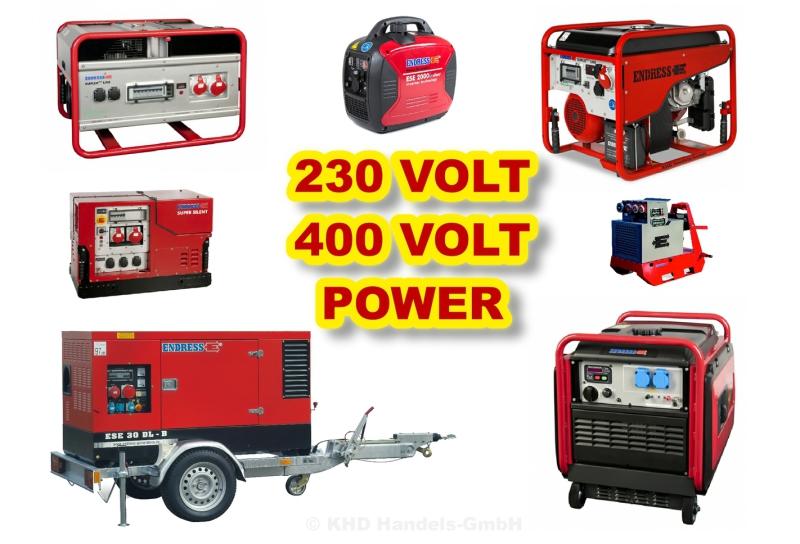 Stromerzeuger Generatoren Notstromaggregate