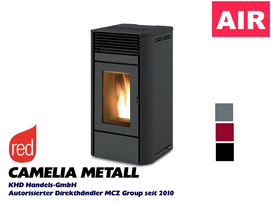RED Camelia Air - Metall silber, bordeaux, schwarz, weiss
