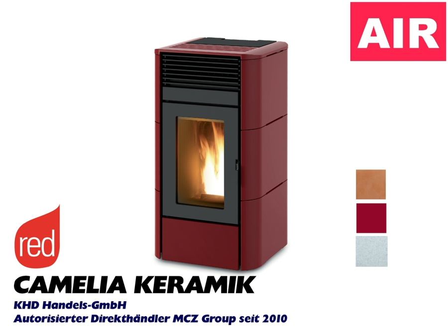 RED Camelia Air - Keramik bordeaux, weiss, braun, hellgrau