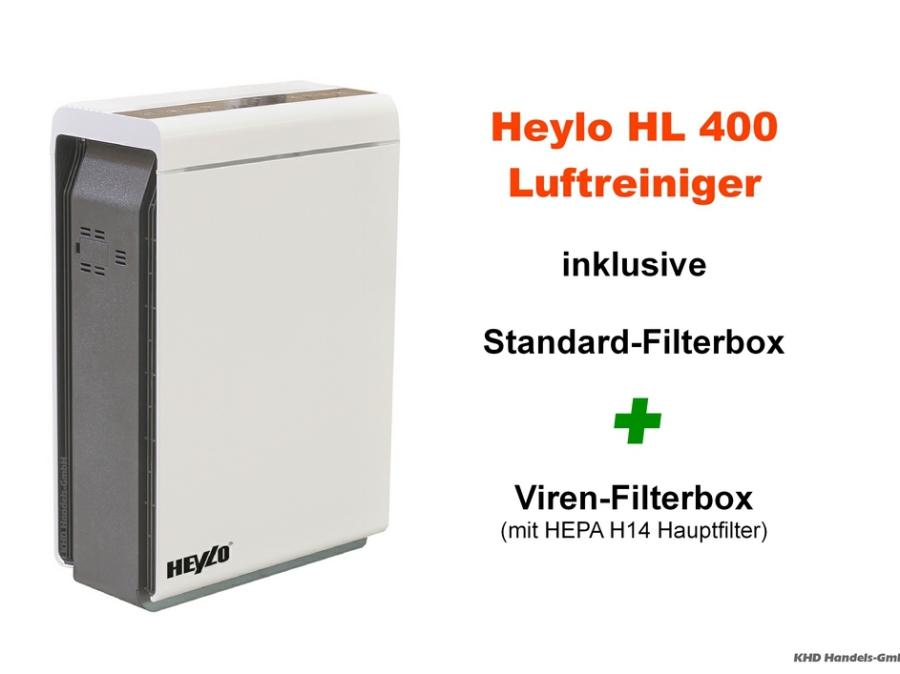 Heylo HL 400 Luftreiniger mit Virenfilterbox HEPA H14