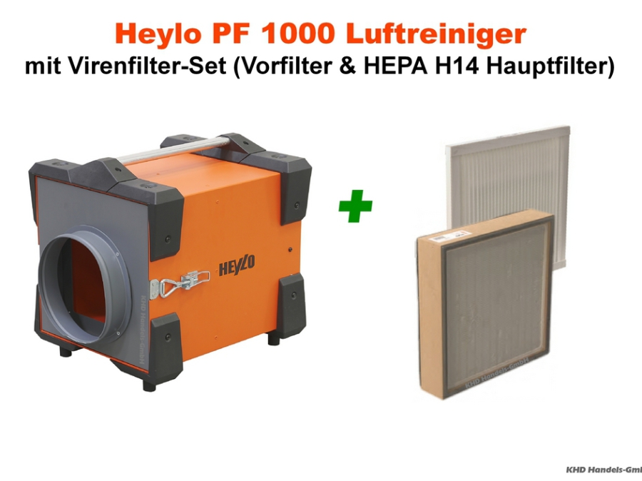 Heylo PowerFilter PF 1000 Luftreiniger mit Virenfilter-Set