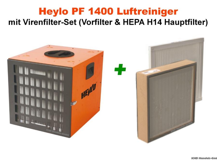 Heylo PowerFilter PF 1400 Luftreiniger mit Virenfilter-Set