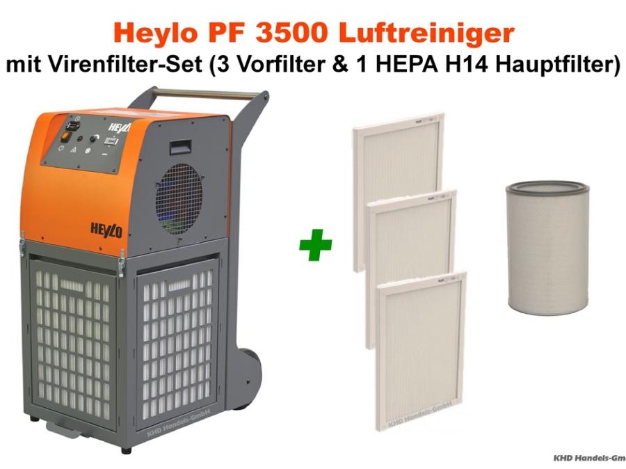 Heylo PowerFilter PF 3500 Luftreiniger mit Virenfilter-Set